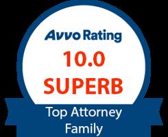 AVVO 10.0 Superb Top Attorney Family